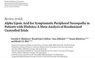 Review Article Alpha Lipoic Acid for Symptomatic Peripheral Neuropathy in Patients with Diabetes: